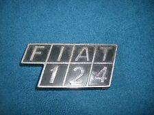Emblem / Badge Fiat 124 Plastik, 2 Befestigungsstifte, ca. 10 x 5 cm