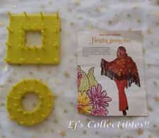 Vintage STUDIO 12 Round & Square Flower Looms with Fiesta Poncho CROCHET Pattern