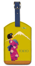 Leatherette Travel Luggage Tag Baggage Label - Tokyo Japan by Koen van Os