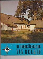 Album de chromos  chèque TINTIN. De Aardrijkskunde van België. 1962