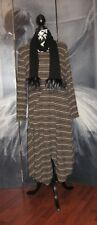 Lagenlook Italian Soft Knit Stripped Boho Dress Tunic & Scarf Size 10 12 14 16