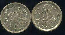 SPAIN  ESPAGNE  5  pesetas   1994  ( etat )