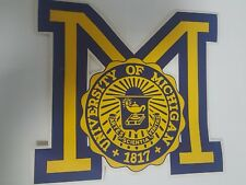 Large University of Michigan Decal Sticker football - Wolverines