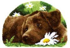 Vervaco Knüpfteppich Tiermotiv Labrador mit Garn 69x46 cm Vervaco KKPN0153852