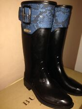 Burberry Ladies Black Rain Boots BNIB RRP £295 Size EU39