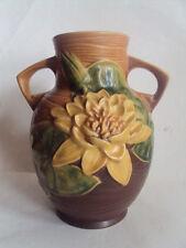 """Vintage Original Roseville Water Lily 77-8"""" Vase. Beautiful Look!"""