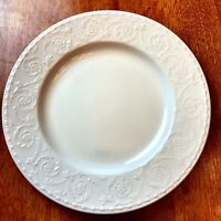 MIKASA china RIVIERA Salad Plate Maxima white embossed-CAN01-Discontinued