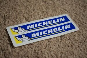 Michelin Man Bike Motorbike Cycle Car Tyre Decals Stickers Logo Blue 100mm