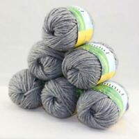 Sale Quick Hand Knit Yarn Soft Worsted Wool Silk Shawls Lot 6 Skeins x50g 06