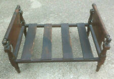 Antique Dolls Wooden Rope Bed