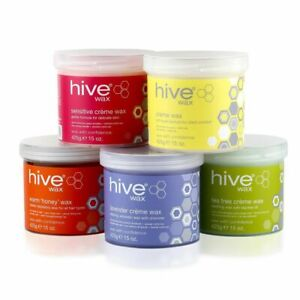 Hive Wax Pots 425g- Warm Honey, Creme, Tea Tree, Sensitive, Lavender, Superberry