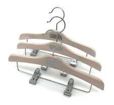 "6PS Timber Kids 11.8"" clothes hangers w clips for Skirts white KOOBAY branded"