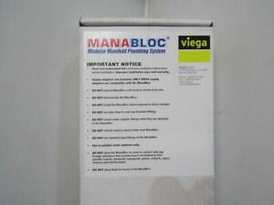 "Viega 1/2"" 36 Port ManaBloc Distribution Manifold 50363"