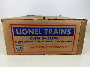LIONEL Postwar SET BOX ONLY for # 2223W Lackawanna FM Freight Train O Gauge