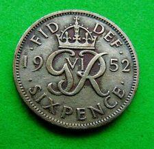 Une date clé très fine * 1952 * Sixpence... lucido _ 8 pièces