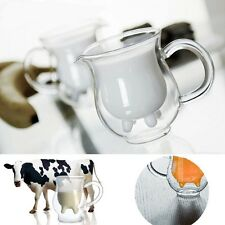Cow Udder Shaped Double-walled Cup Milk Mug Double Glazing Water Bottle Glass