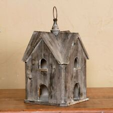 Rustic Wood Gable Bird House