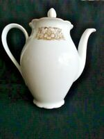 Seltmann Weiden Bavaria Nora Series 8 Cup White w/ Gold Trim Coffee Pot #19343