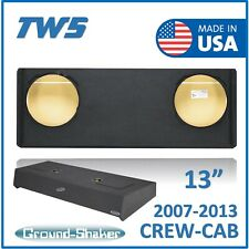 "Gmc Sierra Crew-Cab 2007-2013 For 13"" JL Audio TW3 Dual Sub Box Enclosure"