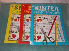3~Spring, Fall & Winter Clip Art A La Carte Books by Imogene Forte, Teacher/Kids