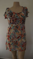 LOVELY Colourful Floral Short Dress .... CROSSROADS .... Size 14   #N1118
