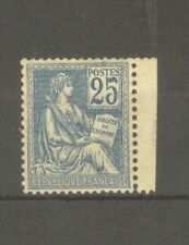 """FRANCE STAMP TIMBRE N° 114 """" MOUCHON 25c BLEU TYPE I 1900 """" NEUF xx SUP"""