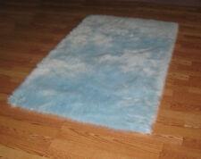 BABY BLUE Flokati Faux Rug Soft like rabbit fur 3' x 5'