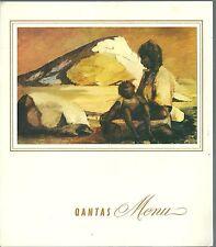Qantas Empire Airways Menu 1970 aircraft aviation aéronautique Russell Drysdale