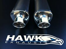 Ducati 900 Monster, Stainless Tri-Oval Exhaust Cans SL