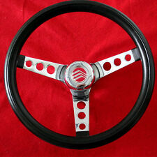 "New! Mercury Comet Cyclone Monterey Grant Steering Wheel Black 13 1/2"""