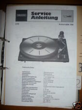 Service Manual Grundig Automatic 730 Record player,ORIGINAL