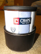Chaps 13 Blue/White Cotton Hankerchief Gift Set In Re-Usable Pen/ Jewelry Holder