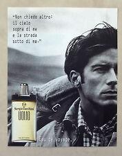 C261-Advertising Pubblicità-1998- SERGIO TACCHINI UOMO EAU DE VOYAGE PROFUMI