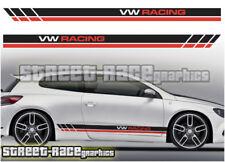 VW Volkswagen Scirocco Racing Rayas 007 Pegatinas Calcomanías Gráficos
