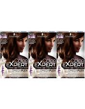 Schwarzkopf Color Expert 5.65 Chestnut Brown Omegaplex Perm Hair Dye x 3 Pack