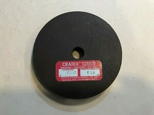 """Cratex USA Rubberized Abrasive red (fine) wheel 4"""" x 1/2"""" with 1/2"""" arbor"""