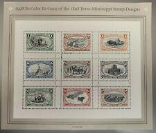 1998 BI-COLOR RE-ISSUE 1898 TRANS-MISSISSIPPI STAMP SHEET OF 9 MNH SCOTT#3209