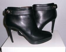 NIB Givenchy Shark Tooth Lock Black Leather Ankle Boots Booties 40