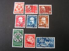 NORWAY, SCOTT # 290+292/293(2)+295-297(3)+299-301(3),4-COMPLETE SETS 1947 USED