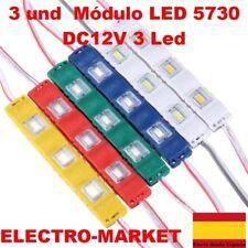 3 und LED 5730 DC12V 3 Led  blanco,frio/ calido, rojo, azul,verde, amarillo,rosa