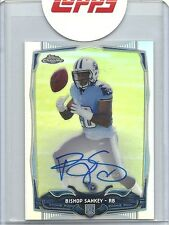 2014 TOPPS CHROME MINI RC REFRACTOR AUTO VARIATION BISHOP SANKEY /75 TITANS