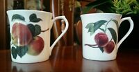 Queens Hookers Fruit Fine Bone China Coffee Cups Lot of 2