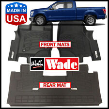Westin Wade Sure-Fit Custom Molded 2015-2018 Ford F-150 SuperCab Floor Mats