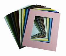 100 Pcs of 8x10 Picture Mats Mattes Matting for 5x7 Photo + Backing + Bags