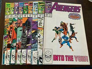 Avengers #314 - 323 (1990, Marvel) LOT OF 10! Spider-Man joins Avengers! VF or +
