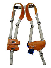 NEW Tan Leather Shoulder Holster w/ Dbl Mag Pouch Astra Beretta Compact 9 40 45