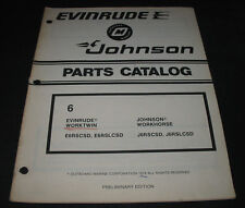 Parts Catalog Outboard Marine Evinrude Johnson 6 Worktwin / Workhorse Stand 1979