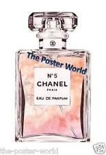 Chanel no 5 parfum aquarelle publicité photo poster wall art print neuf