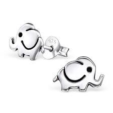 925 Sterling Silver Baby Elephant Kids Girls Women Stud Earrings Jewellery Gift