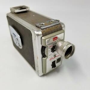Vintage Kodak Brownie Black Silver 8MM Movie Camera II 13mm f/19 lens